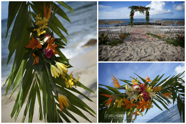 Beach-Wedding- Tropical-Canopy