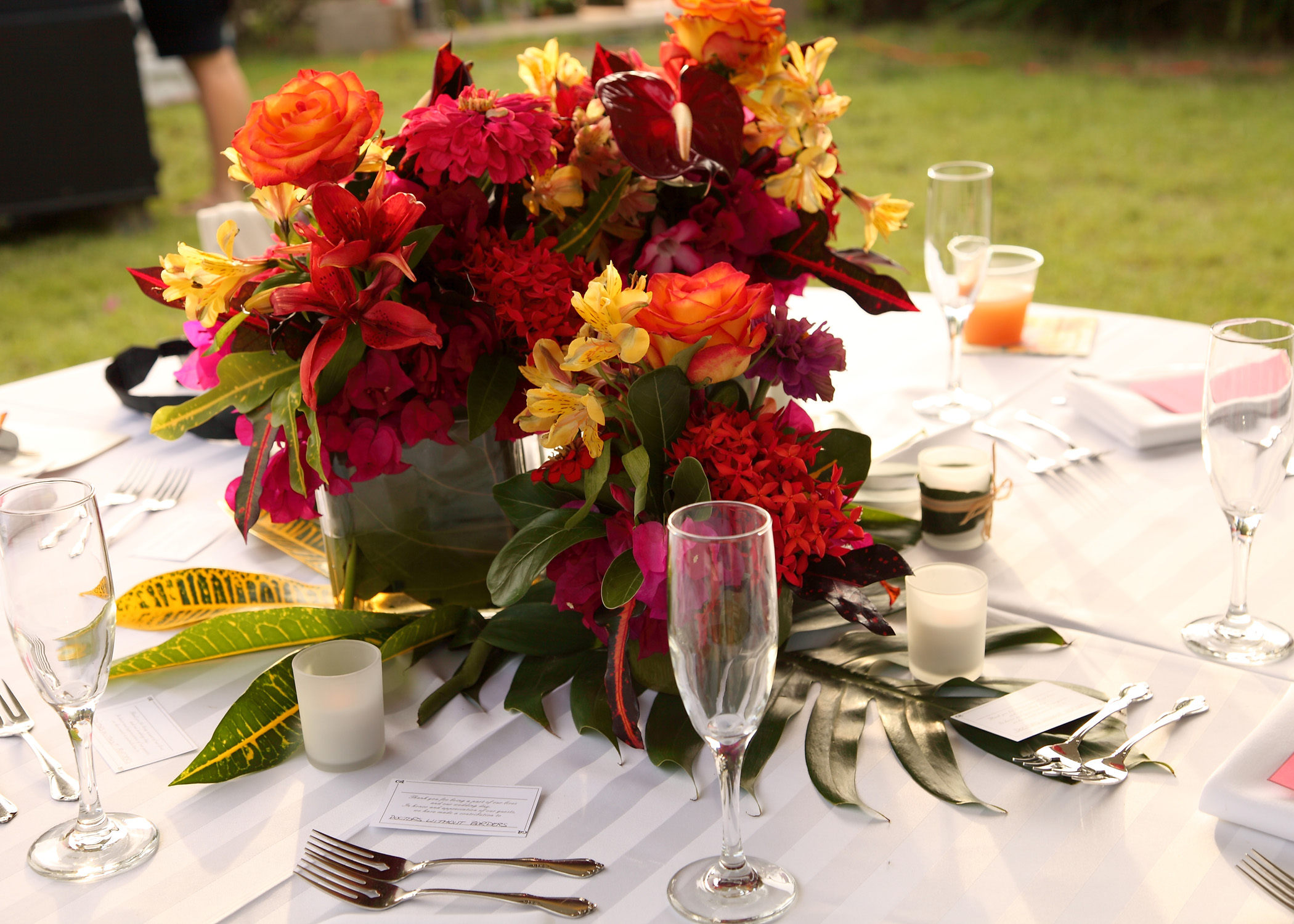 Anderson: Reception Centerpieces