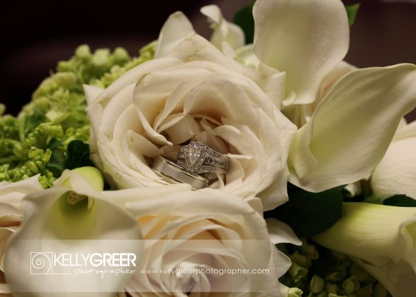 Williams: White roses, cala lilies, hydrangea