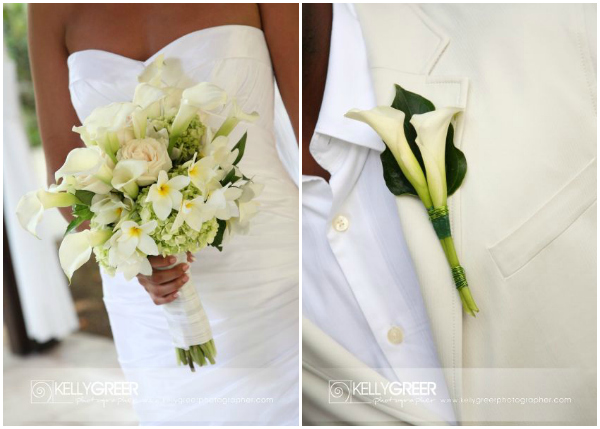 Willilams: Bridal Bouquet & Boutoniere