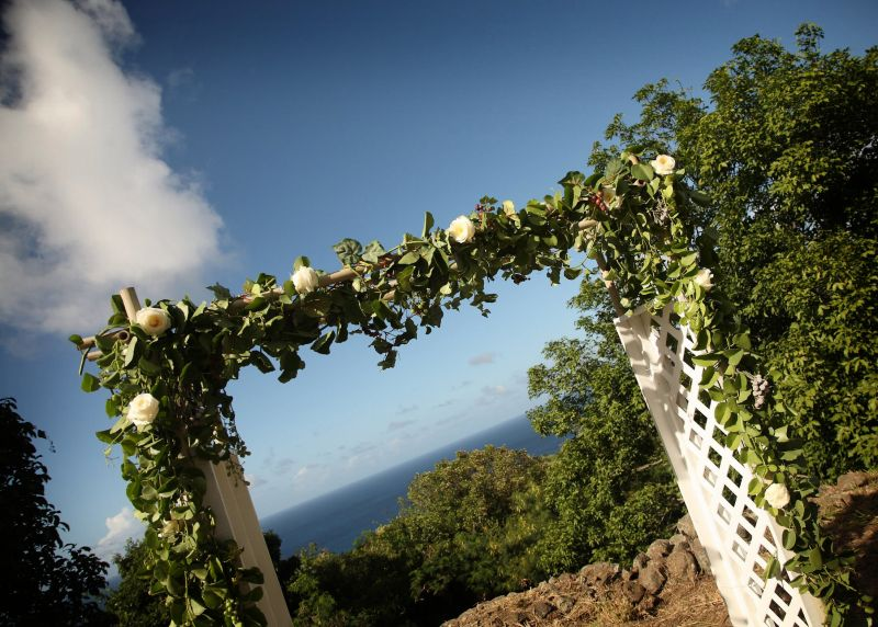 Wedding Arch St Croix Wedding Flowers by AntillesLilies.com images by www.kellygreerphotographer.com