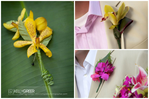 Tropical Boutonieres